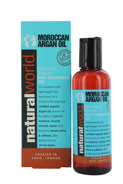 oil hair treatment natural world moroccan argan oil moisture repair hair