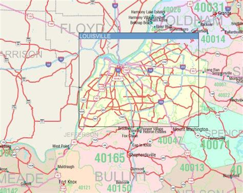 map kentucky area codes kentucky zip code map