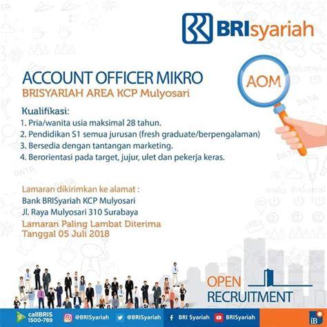pt bank brisyariah tbk fresh graduate micro account