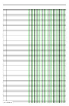Printable 6 Column Ledger Paper printable columnar paper with six columns on ledger sized
