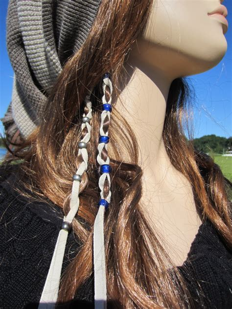 leather hair band ponytail wrap ponytail holder hair tie leather hair wraps ponytail holders beaded bead by