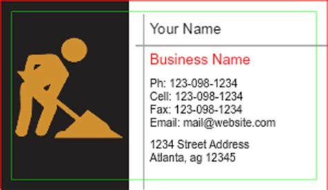 independent contractor business card template contractor business cards designsnprint