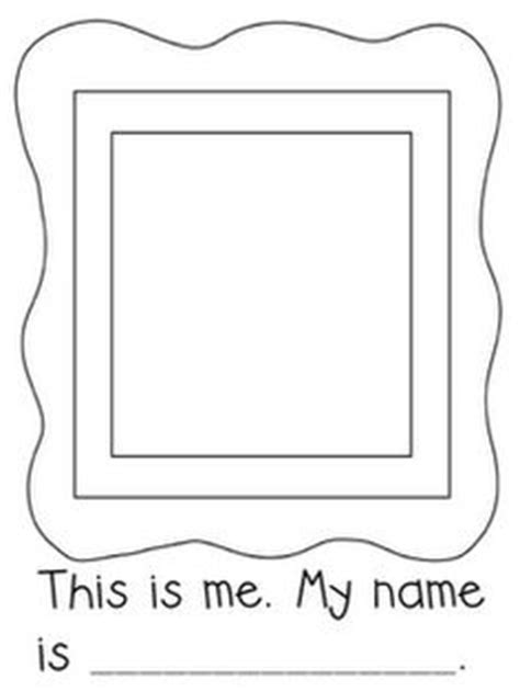 1000 Images About All About Me Unit On Pinterest All About Me Book All About Me And Shape Self Portrait Template