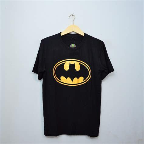 Baju Batman Kaos Batman kaos baju batman gold pakaian pria shopee