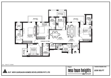 dlf new town heights floor plan dlf new town heights ready to move apartments gurgaon