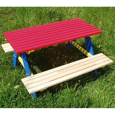 childs wooden garden bench children seat set 4 sitzer seating area wood garden table