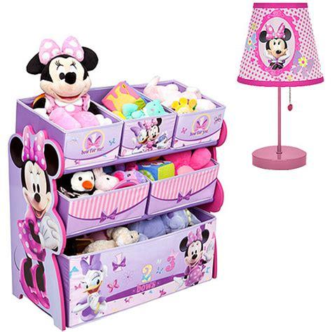 minnie mouse room in a box bundle disney minnie mouse multi bin organizer table l value bundle walmart