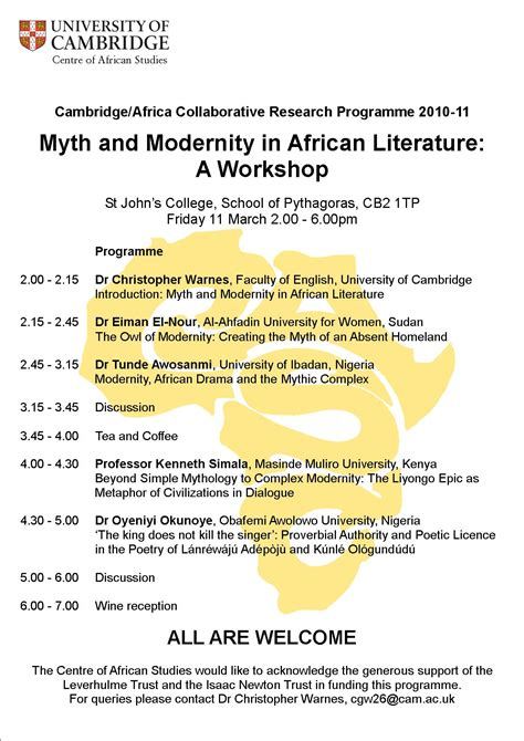 themes african literature myth and modernity in african literature centre of