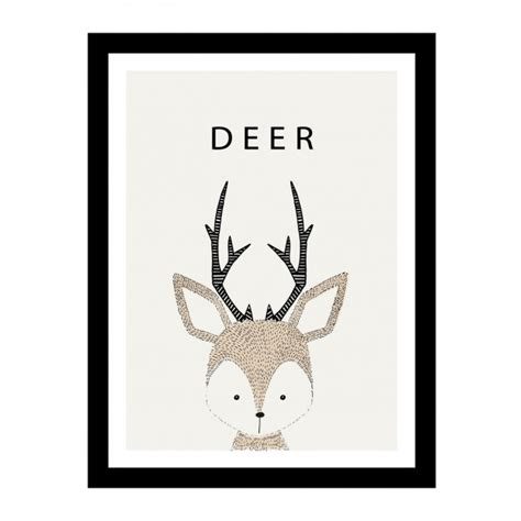 Cute hand drawn deer design Vector   Free Download