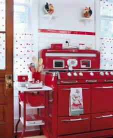 red retro kitchen panda s house