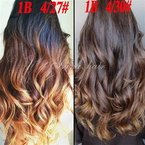 color 4 weave top grade ombre hair extensions hair