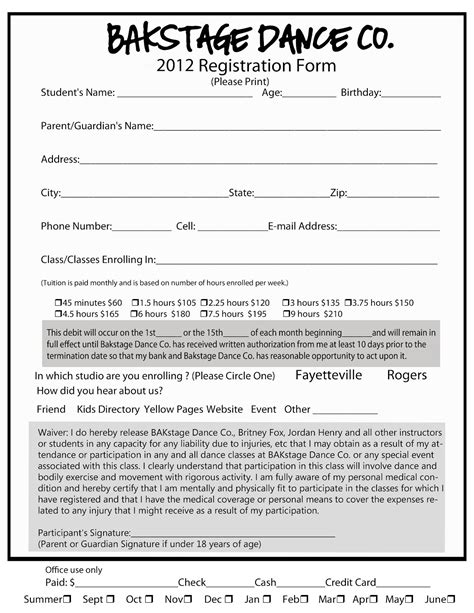 school registration form template free school registration form template free iranport pw