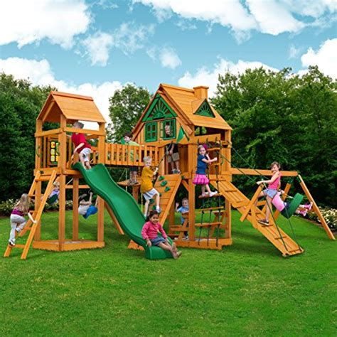 tree swing sets peak tree house swing set with fort add on and with amber