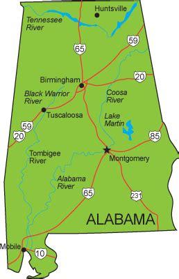 usa map alabama alabama usa tourist destinations
