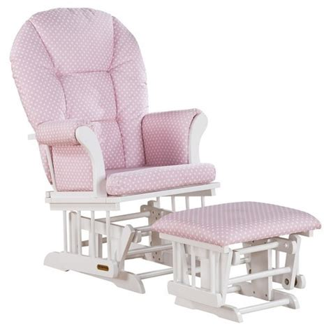 shermag glider and ottoman combo shermag alexis glider rocker and ottoman combo pink blinq