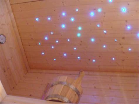 sternenhimmel glasfaser selber bauen sauna licht glasfaser sternenhimmel decke selber bauen