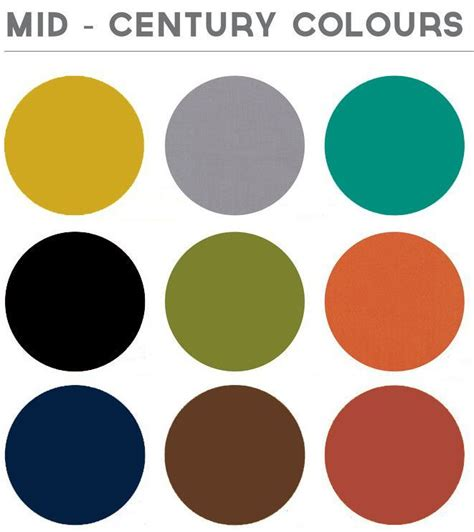 mid century modern colors 25 best ideas about modern color palette on