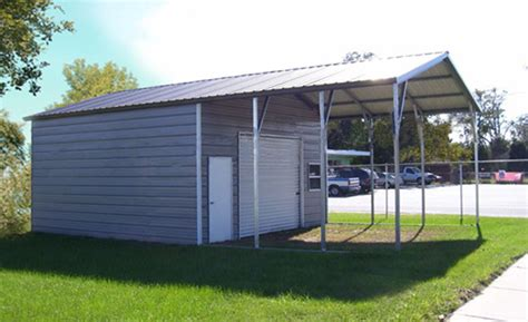 carport garage kombination steel garage carport combo one two or three car metal garage