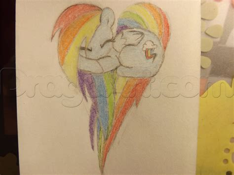 The Easy Way To Be A Dashing 2 by How To Draw Rainbow Dash Step By Step