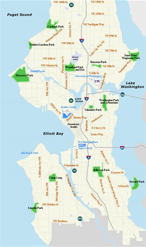 seattle maps seattle map images