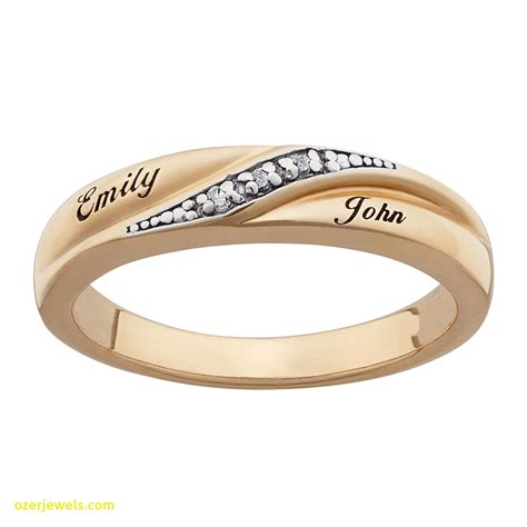Wedding Ring Name by Beautiful Wedding Ring With Name Engraved Jewelry For