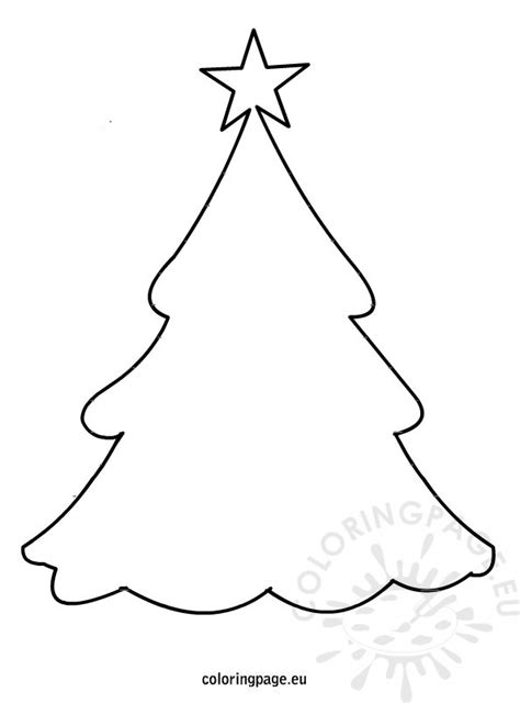holiday templates for pages christmas tree outline coloring pages