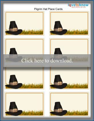 Pilgrim Place Cards Template make your own thanksgiving place cards lovetoknow