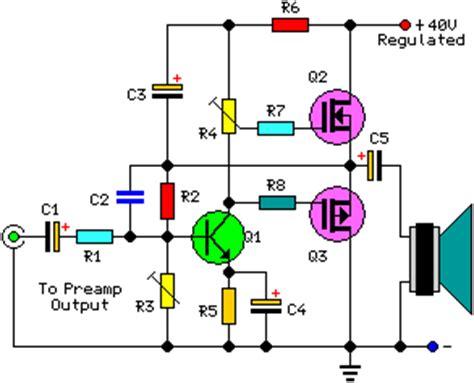mosfet transistor audio lifier 30 watt audio power lifier schematic circuit diagram