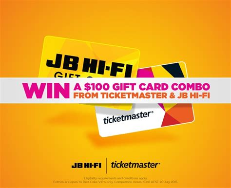Jb Hifi Gift Card - coca cola coke rewards win a 100 ticketmaster and australian competitions
