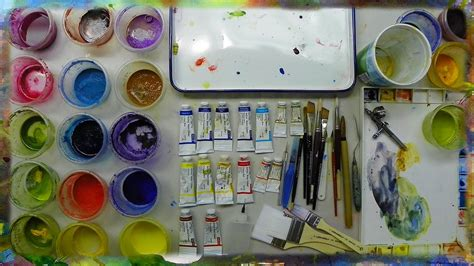 acrylic painting materials quot tools and materials for watercolor painting quot by ross