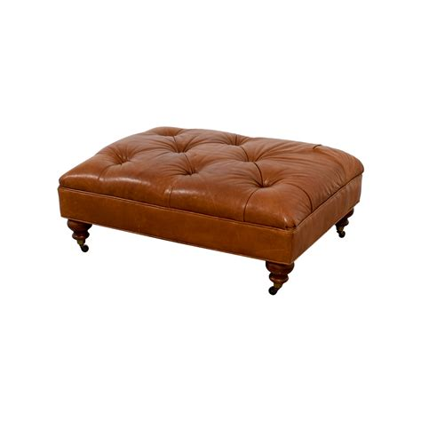 ethan allen leather ottoman 81 off ethan allen ethan allen anton tufted leather