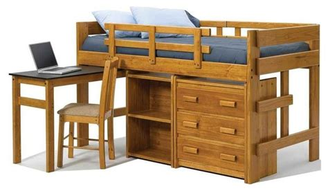 Twin Mini Loft Bed With Pull Out Desk Bunk Beds By Bunk Bed With Pull Out Bed