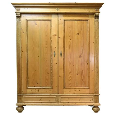 large armoire for sale 19th century large grunderzeit armoire in pine for sale at
