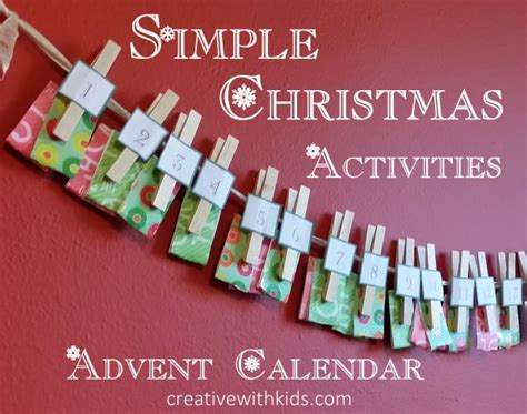 simple advent calendar to make diy simple advent calendar with activities