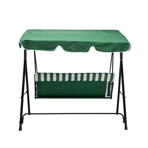 Patio Swing Green 3 Seats Green Outdoor Patio Canopy Swing Glider Hammock