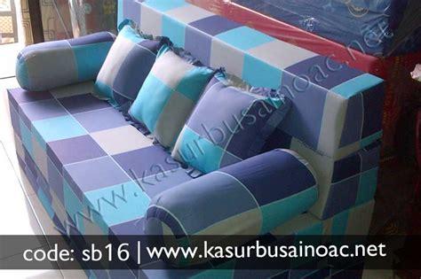 Sofa Kotak sofa bed motif kotak biru jual kasur busa inoac