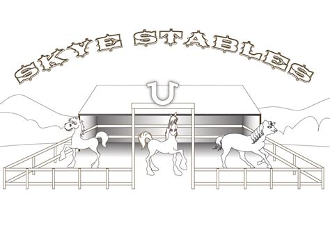 horse barn coloring page 87 coloring pages of horse stable horse coloring