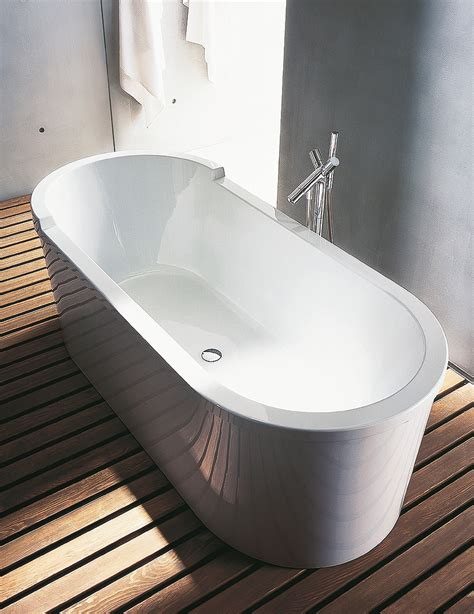 duravit freestanding bathtubs duravit starck 1800 x 800mm oval double ended freestanding