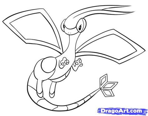 pokemon coloring pages flygon how to draw flygon step by step pokemon characters