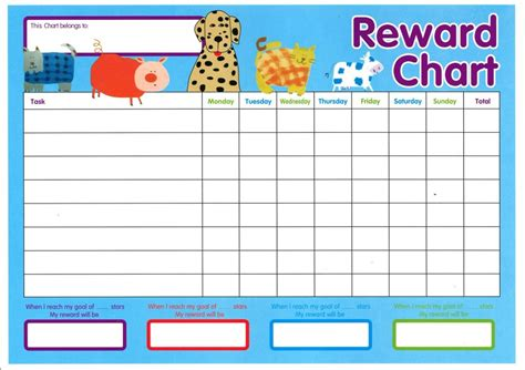 printable star behavior chart reward chart template kiddo shelter