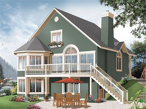 vacation house plans sloped lot cottage house plans