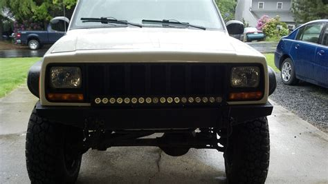 jeep xj light bar led lightbar grille jeep forum