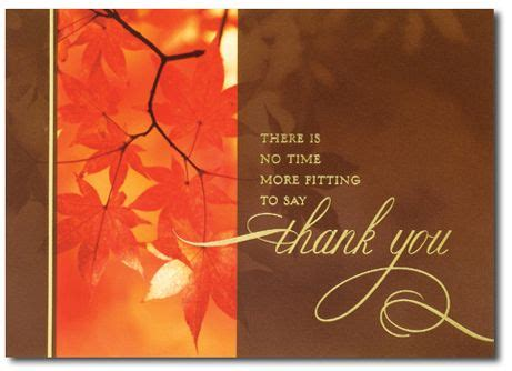 thanksgiving season business thank you cards no time more fitting by the office gal