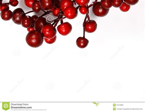 christmas decoration from red berries stock image image