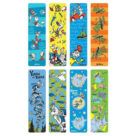 printable preschool bookmarks dr seuss bookmark designs preschool ideas pinterest