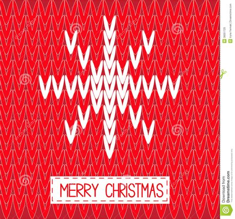 christmas pattern word knitted sweater vector red pattern with word snowf royalty