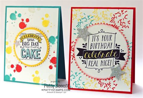 Big Handmade Cards - balloon bash big day birthday cards stin up patty