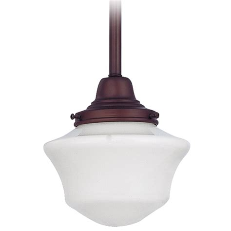 Schoolhouse Style Pendant Lighting 6 Inch Retro Style Schoolhouse Mini Pendant Light In Bronze Finish Fc3 220 Gc6 Destination