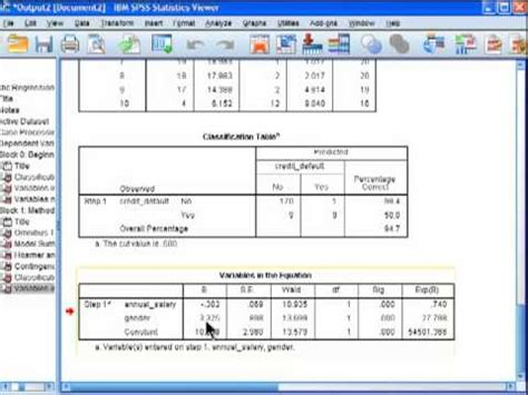 spss tutorial logistic regression logistic regression spss part 4 youtube