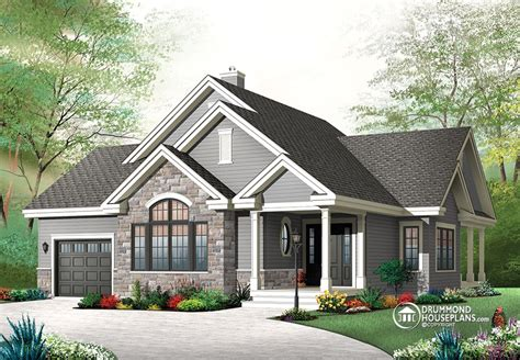 Drummond House Plan Affordable Modern Rustic Home Design